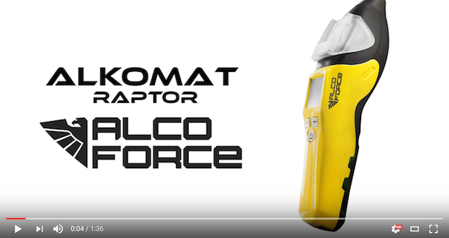Alkomat AlcoForce Raptor film